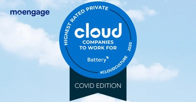 MoEngage Awarded Highest Rated Private Cloud Computing Company to Work for During the COVID Crisis