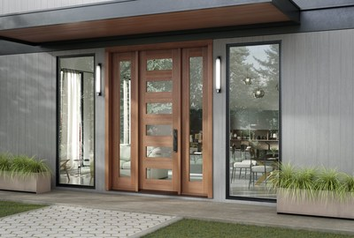 The new TruStile Wood Entry Door Systems is the company's first entry door collection, offering 500 different door and sideline styles in a range of natural materials.