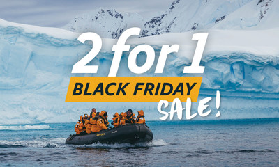 Quark Expeditions, the recognized Leader in Polar Adventures, has announced its Black Friday Sale featuring 2-for-1 limited-time deals on Premium cabins on select voyages in the Arctic 2021 and Antarctic 2021.22 sailing seasons, plus up to 25% off Standard cabins.