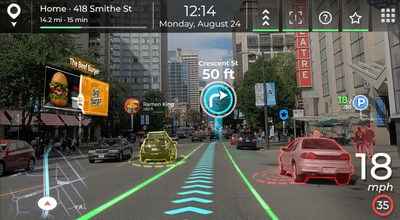 Panasonic and Phiar simulate next-gen in-vehicle augmented navigation solution