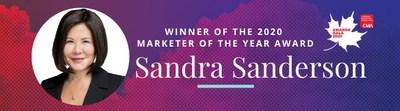 Sandra Sanderson - Canadian Marketing Association 2020 Marketer of the Year Winner (CNW Group/Canadian Marketing Association)
