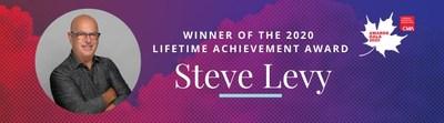 Steve Levy - Canadian Marketing Association 2020 Lifetime Achievement Award Winner (CNW Group/Canadian Marketing Association)