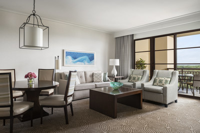 The newly enhanced Park View Deluxe Suites provide a fresh, modern look and a furnished, spacious terrace.