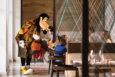 The resort's Good Morning Breakfast with Goofy & His Pals character breakfast is fun for all ages, offered every Saturday at Ravello.
