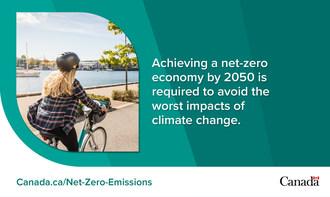 需要2050年实现净零经济性,以避免气候变化的最严重影响。(加拿大CNW集团/环境和气候变化)