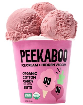 Peekaboo Organics' ice cream featuring hidden vegetables was named the grand prize winner today of the Real California Milk Snackcelerator dairy snack innovation competition.