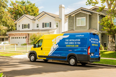 Goodyear mobile tire installation allows drivers to get new tires professionally installed safely and conveniently without ever leaving home. Goodyear technicians complete the entire transaction while upholding strict social distancing and zero-contact measures.
