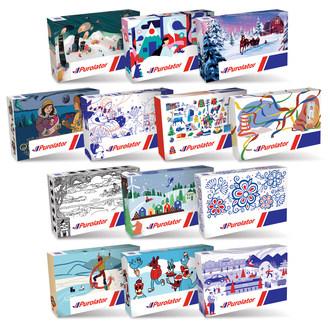 Purolator lance 13 modèles de boîtes festives en édition limitée conçues par des artistes canadiens de toutes les provinces et de tous les territoires. (Groupe CNW/Purolator Inc.)