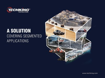 TECHKING Tires are About to Touch the Ground at bauma CHINA2020 (PRNewsfoto/TECHKING/CONMART)