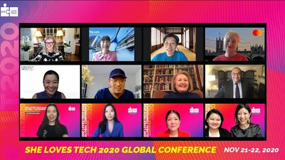 She Loves Tech Co-Founders with Speakers: Arianna Huffington, Jane Sun, Kathy Matsui, Ann Cairns, Jacqueline Poh, Chng Kai Fong, Melanne Verveer, Mahmoud Mohieldin, Rhea See, Selina Wang, Maria Li, Virginia Tan, Leanne Robers
