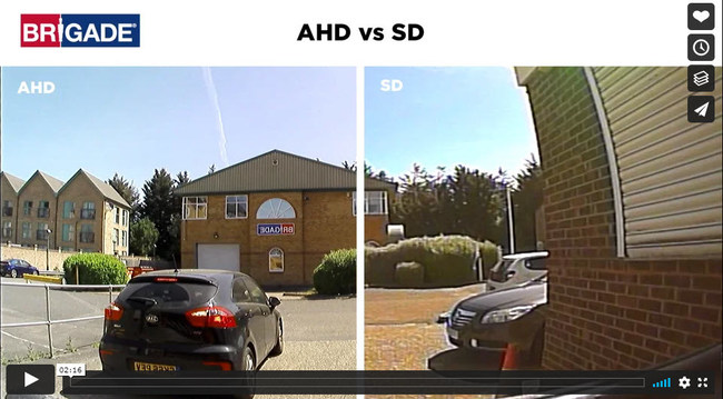 Brigade Electronics discusses high definition versus standard definition CCTV cameras for vehicle safety (PRNewsfoto/Brigade Electronics)