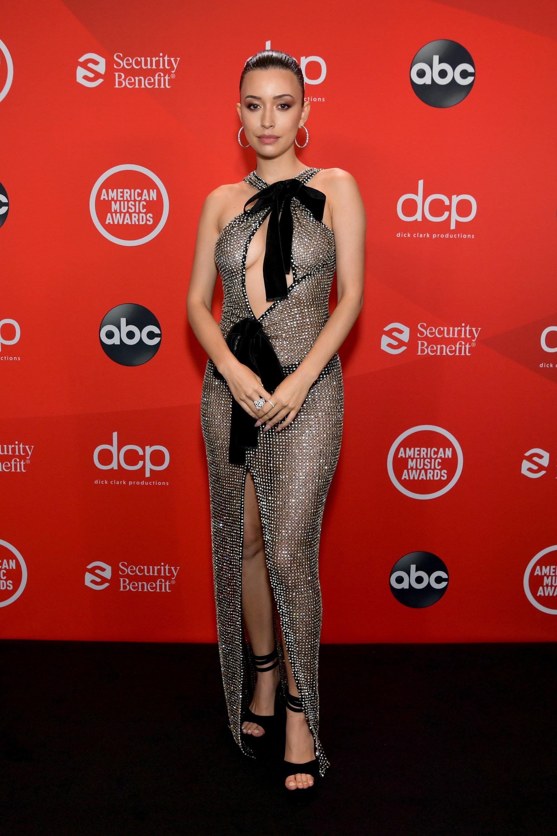 Christian Serratos Sparkles in Forevermark Diamonds at the 2020 American  Music Awards