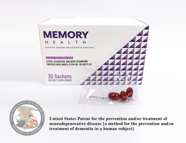 Memory Health is patented for the prevention and/or treatment of neurodegenerative disease [a method for the prevention and/or treatment of dementia in a human subject].