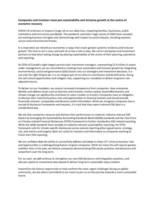 CEO Statement (CNW Group/British Columbia Investment Management Corporation (BCI))