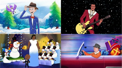 This holiday season, musical legends Bing Crosby, Chuck Berry, Ella Fitzgerald and Frank Sinatra are returning in animated form with first-ever official music videos from UMe for some of the most iconic and beloved songs in the Christmas canon.