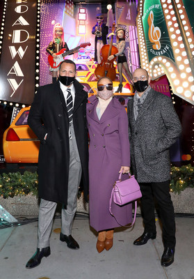 Alex Rodriguez, Jennifer Lopez and Marc Metrick (Getty for Saks Fifth Avenue)