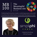 SimpliPhi Power CEO Awarded Meaningful Business 100...