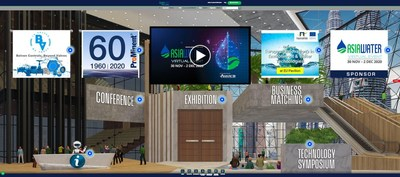 Overview of ASIAWATER Event Lobby to be held on 30 Nov - 2 Dec 2020