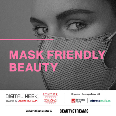 The use of face masks has dramatically impacted beauty routines. Transfer-resistant colour cosmetics and specially formulated skin care products that address mask irritation are being developed. (PRNewsfoto/Cosmoprof Asia)