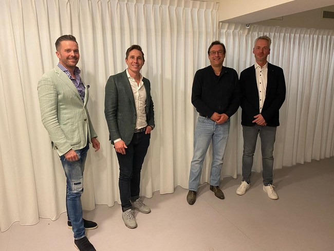Founders of VONQ and IGB (from left to right): Tycho van Paassen, Wouter Goedhart, Jeroen Vos and Peter Nieuwpoort