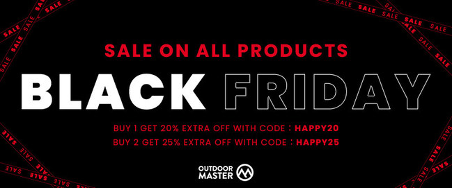 Black Friday OutdoorMaster is on