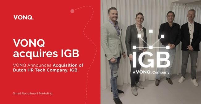 VONQ announces acquisition of recruitment tech specialist IGB