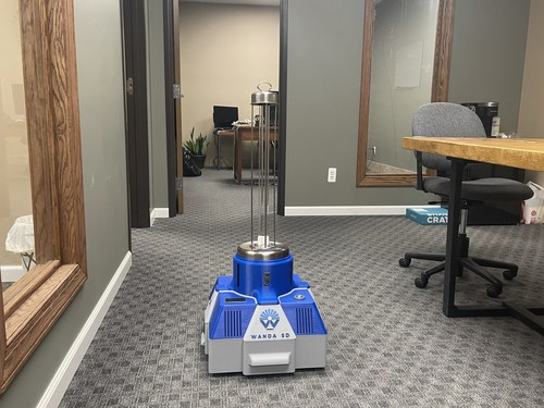 Wanda SD disinfecting robot is available for sale at www.resgreenint.com for just $5,000.