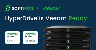 SoftIron's Open Source-Based HyperDrive ® Storage Solution is Verified Veeam Ready for Object and Object with Immutability