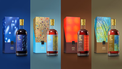 Left to Right: Puncheon, Virgin Oak, French Wine Cask, and Peated Malt make up the first four whiskies launched as part of Kavalan's inaugural 'Artist Series.'