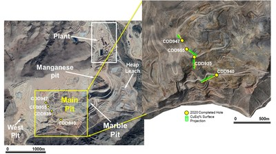 Figure 1. Location map of the C2 target. (CNW Group/SSR Mining Inc.)
