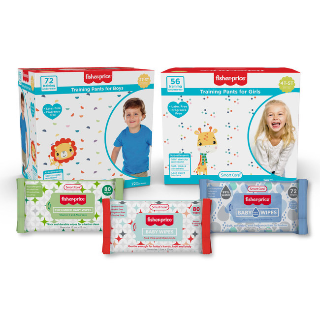 Smart Care Fisher-Price Baby Wipes are soft and sensitive for babies.