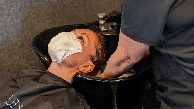 Loop free and stringless SAM self adhesive masks making life easier for hair stylist.