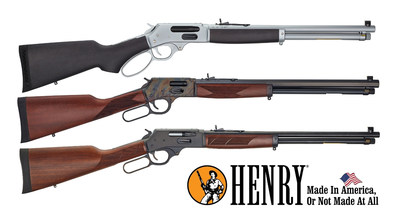 Henry Repeating Arms is announcing the 32 new models including side loading gate versions of their All-Weather, Color Case Hardened, and Blued Steel rifles and shotguns.