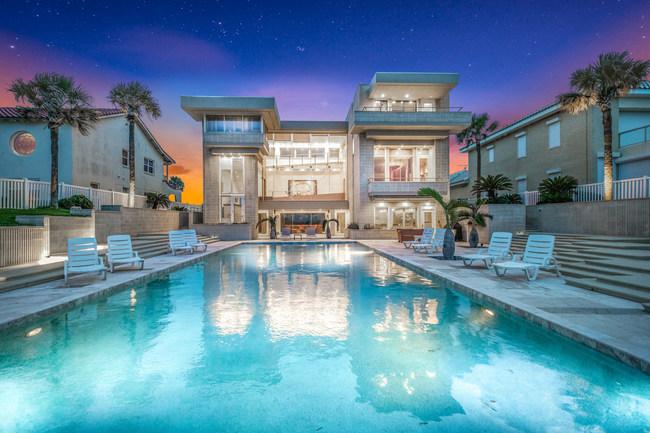Direct oceanfront Ormond Beach Estate Home.