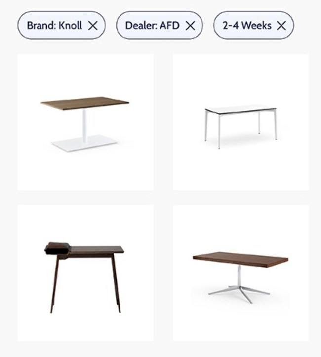 Quickly filter through over 150+ brands with different attributes to find the best furniture products for your design ideas.