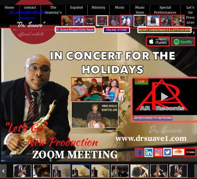 Recording Artist Dr. Alexander Nicolas Known As «Dr. Suave» In Concert For The Holidays 2020 And The Spring 2021