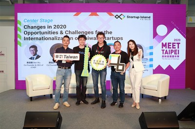 (From left to right) Victor Wu - Founder and CEO of Vpon, Keynes Cheng - Co-Founder and COO of iKala, Ben Wu - Co-Founder and CEO of iCHEF, Ming Chen - Founder and CEO of KKday; moderated by Amanda Liu - Founder of Taiwan Startup Stadium and CEO of YoungLin Charity and Education Foundation