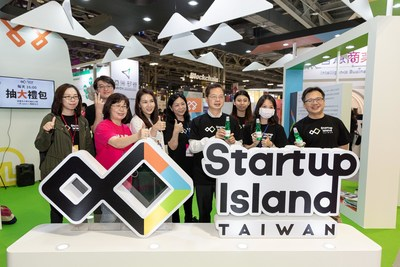 Minister of National Development Council Kung, Ming-Hsin (fourth from the right) Visits Startup Island TAIWAN's Booth During Meet Taipei