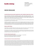 Lundin Mining Announces New Agreements with Candelaria Supervisors Unions (CNW Group/Lundin Mining Corporation)