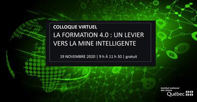 Jeudi dernier, plus de 200 participantes et participants ont assisté au premier colloque virtuel de l'Institut national des mines (Groupe CNW/Institut national des mines)