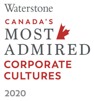 CWB Financial Group is one of Canada's Most Admired Corporate Cultures 2020, placing in the Enterprise category. (CNW Group/CWB Financial Group)