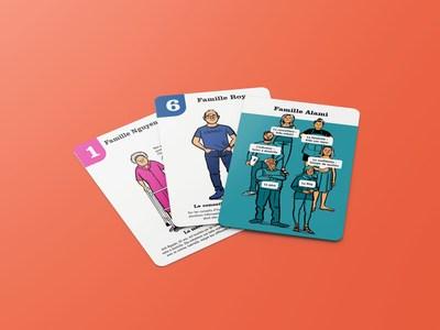 L'Appui réinvente le jeu des 7 familles pour faire connaître la proche aidance. (Groupe CNW/L'Appui pour les proches aidants)