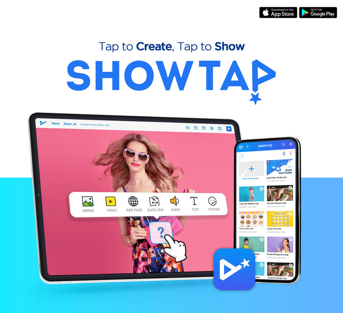 ShowTap可免费提供包括IOS和Android的所有设备。