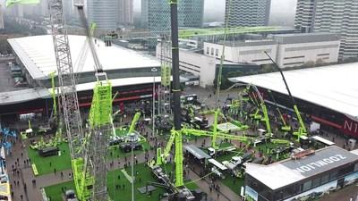 Zoomlion impressiona na Exposição bauma China 2020 com o lançamento de maquinários de construção inteligentes de última geração garantindo mais de US$ 3 bilhões em pedidos (PRNewsfoto/Zoomlion)