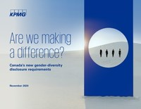 Women made up more than a third of all new Board appointments in Canada over the last six years: KPMG in Canada