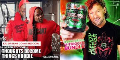 REDCON1 SIGNS TWO HOUSEHOLD NAMES TO LEAD ITS ROSTER OF WORLD-CLASS ATHLETES, BODYBUILDER KAI GREENE AND PROFESSIONAL WRESTLER KENNY OMEGA
