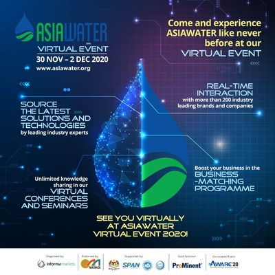 ASIAWATER Virtual Event 2020 Opens Today (30 November)