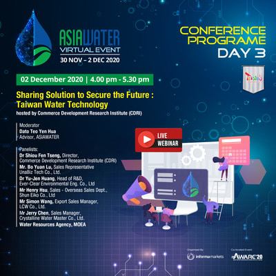 ASIAWATER Virtual 2020 - Day 3 conference by CDRI, Taiwan