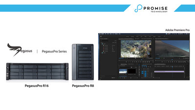 PROMISE PegasusPro offers seamless integration with the industry-leading video editing software Adobe Premiere® Pro to support digital collaborative editing of 4K/5K video formats without compromising performance.
