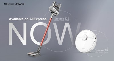 Dreame Launches T20 Cordless Vacuum Cleaner and D9 Robot Vacuum Cleaner on AliExpress